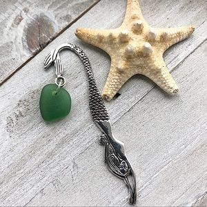 Mermaid Sea Glass / Beach Glass Bookmark BOGO